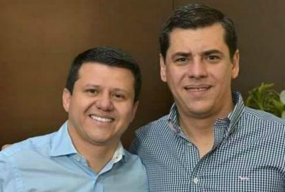 Bernardo 'Ñoño' Elías y su hermano Julio, quien lo reemplazaría en el Congreso.