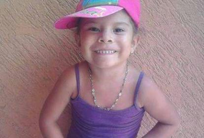 Stefany Blanco Visbal, menor desaparecida. (La foto de la pequeña es mostrada con permiso de sus padres)
