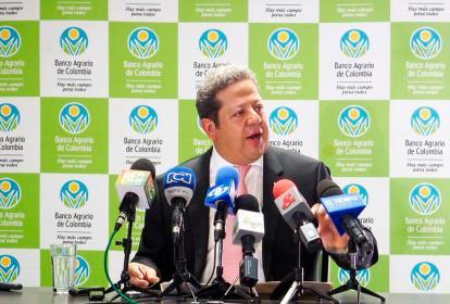 El presidente del Banco Agrario, Luis Enrique Dussan.
