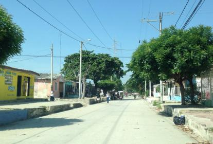 Lugar de los hechos en el barrio La Chinita.