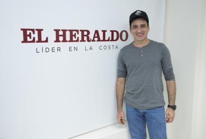 Róbinson Díaz, en su visita a EL HERALDO.