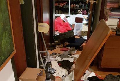 Algunos daños ocasionados en la vivienda de Marta Lucía Ramírez.