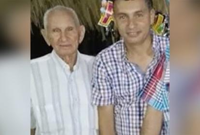 Alfredo López Ramos y su hijo William Antonio López Hernández.