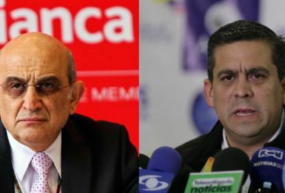 Germán Efromovich, máximo directivo de Avianca, y Jaime Hernández, presidente de Acdac.