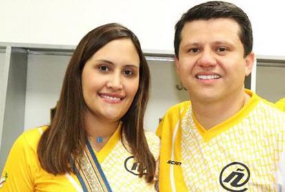 Stephany Morris y Bernardo 'Ñoño' Elías.