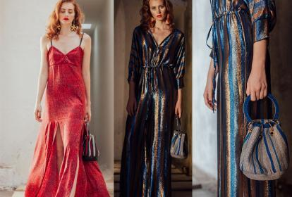 El rojo es uno de los colores que reina en esta temporada. La diseñadora Francesca Miranda presenta esta propuesta vaporosa en su última colección, Holidays.