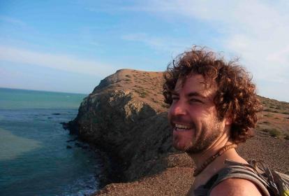 Una selfie que se tomó Borja en el Cabo de la Vela, días antes de su desaparición.