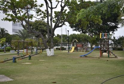 Parque en el barrio Castillogrande, de Cartagena, donde ocurrió el hecho