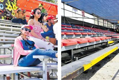En los palcos también se notó la baja asistencia. El minipalco 65 en la Vía 40 no contaba con  público.