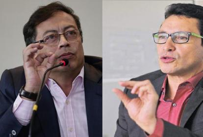 Los exalcaldes Gustavo Petro y Carlos Caicedo.
