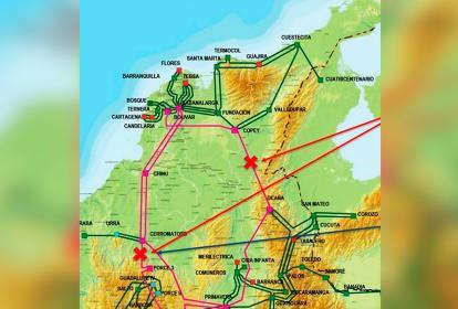 El mapa muestra las líneas que se encuentran afectadas.