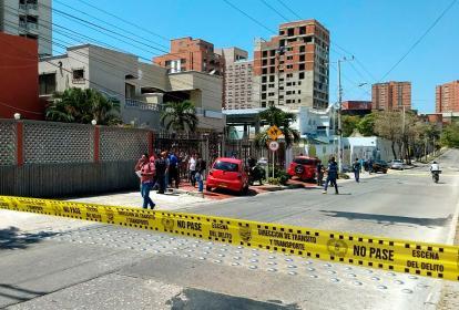 Lugar donde ocurrieron el intercambio de disparos.