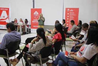 Zandra Vásquez, secretaria de la Mujer y Equidad de Género del Atlántico, durante el evento.
