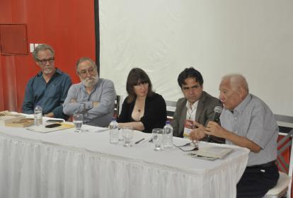 Julio Olaciregui, Fabio Rodríguez, Céline Gilard, Enrique Sánchez Albarracín y Ramón Illán Bacca.