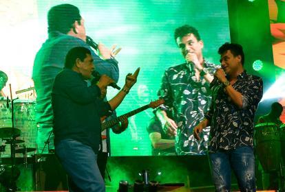 Los cantantes vallenatos se presentaron en el segundo de Festival.