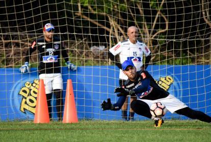 Sebastián Viera, capitán de Junior, en una práctica.