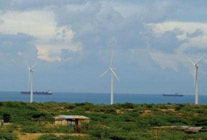 Parque eólico Jepirachi en La Guajira.