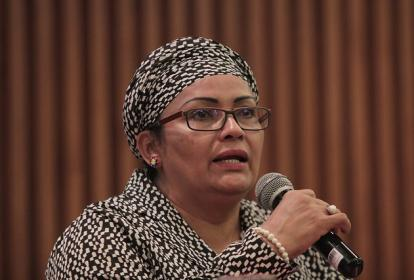 Victoria Sandino, senadora por el partido de las Fuerza Alternativa Revolucionaria del Común.
