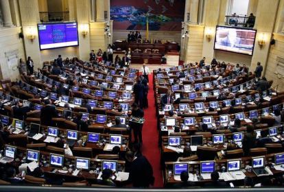 Aspecto de una sesión del Senado de la República.
