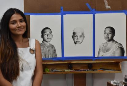 La artista barranquillera Adriana Arciniegas participará de la Feria del Millón.