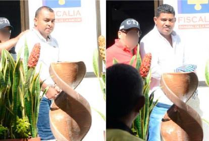 Jeison Enrique Carrillo Acuña y Jean Pierre Márquez Mercado rumbo a la audiencia ante un juez de control de garantías.