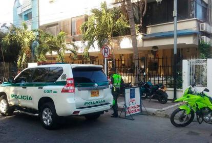 Sede de la Fiscalía en Santa Marta, donde fue hallado muerto Gilberto Luna.