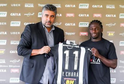 El delantero colombiano Yimmi Chará portará el número 11 en el Atlético Mineiro.