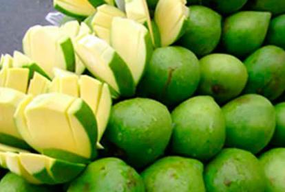 La presunta droga es vertida en los mangos.