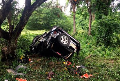 Así quedó el vehículo luego del accidente.