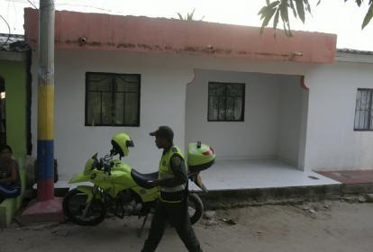 Luis Barrios Machado fue baleado en esta vivienda del barrio Villa Paraíso.