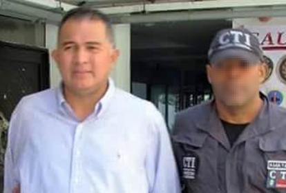 Víctor Julio Vásquez Fernández, capturado.