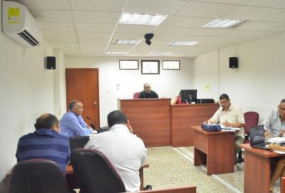 Audiencia de la imputación de cargos contra los implicados, en Valledupar.