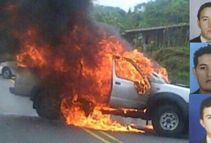 Este es el vehículo en el que se trasladaban las víctimas.
