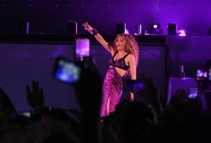 Shakira volvió a brillar en su tierra. El público la ovacionó largamente.