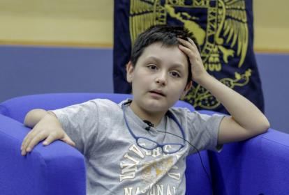 Carlos Antonio Santamaría, el niño de 12 años que este lunes ingresará a la Universidad Autónoma de México.