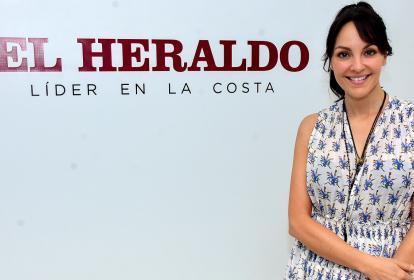 La actriz Carolina Gómez Correa en la sala de juntas de EL HERALDO.