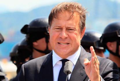 El presidente de Panamá, Juan Carlos Varela.