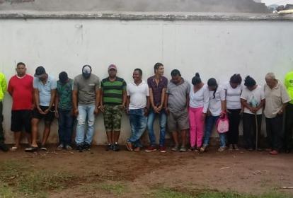 """Capturados de la banda delincuencial denominada """"Los fresitas""""."""