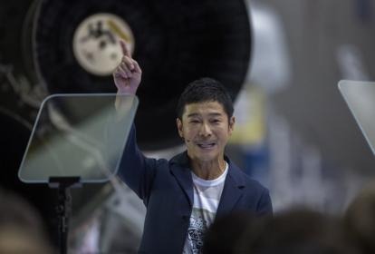El multimillonario japonés Yusaku Maezawa.