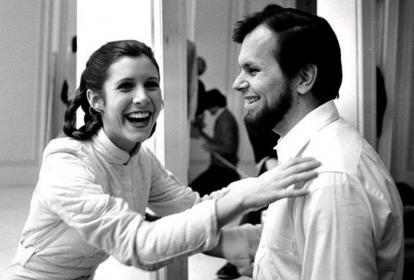 Carrie Fisher y Gary Kurtz.
