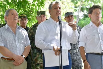 Presidente Iván Duque, en Consejo de Seguridad en el Bajo Cauca.