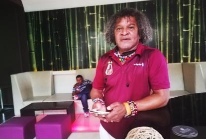 El técnico samario Alberto Gamero atendió ayer a EL HERALDO en la concentración en el Hotel Sonesta.
