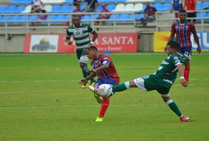 Pasaje del encuentro disputado en el estadio Sierra Nevada, en Santa Marta.
