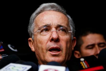 El senador del Centro Democrático, Álvaro Uribe.