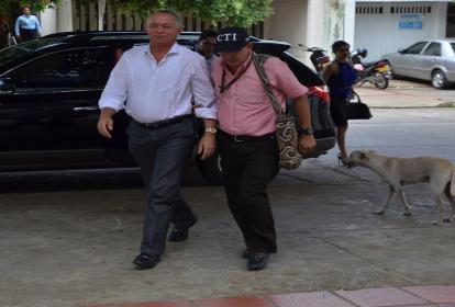 El exalcalde de valledupar Fredys Miguel Socarrás, al momento de su captura.