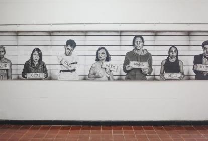 Fragmentos, obra de Martha Morales, Zully Ochoa, Gina Bassa, Juan Medrano, Óscar Márquez, Óscar Sánchez, Yamit Corcho y Yaranell Vitola.