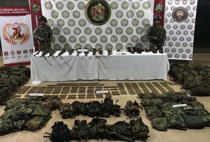 Operativos militares en el sur de Córdoba.