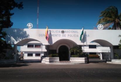 Fachada del comando de Policía en Valledupar.