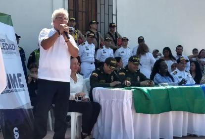 Herrera durante la presentación de la campaña.