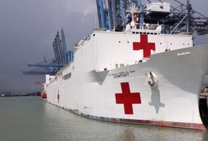 El Buque hospital estadounidense  realizó una gira por varios países, entre esos Colombia, para atender a los migrantes venezolanos.